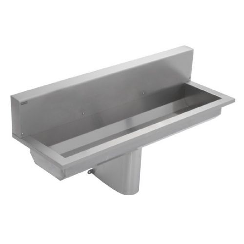Franke Saturn SANX120SB 1200mm Wall-Mounted Stainless Steel Wash Trough with Splashback